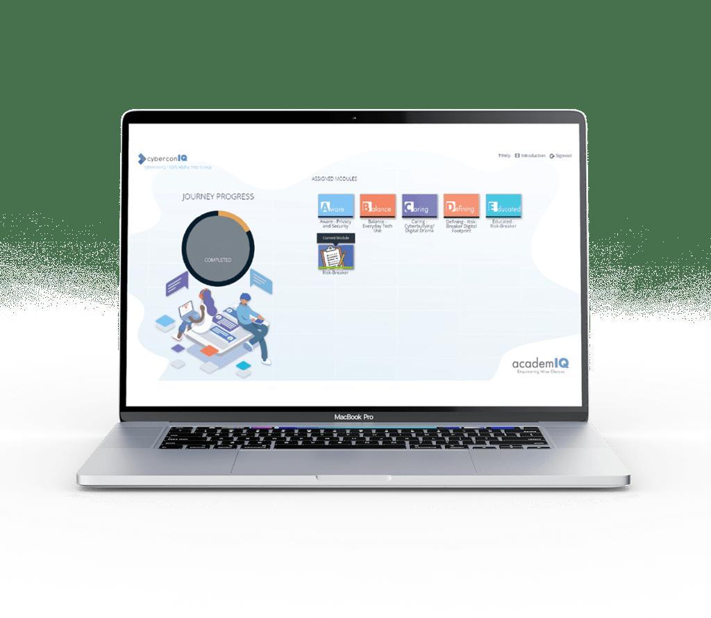academIQ interface straight web