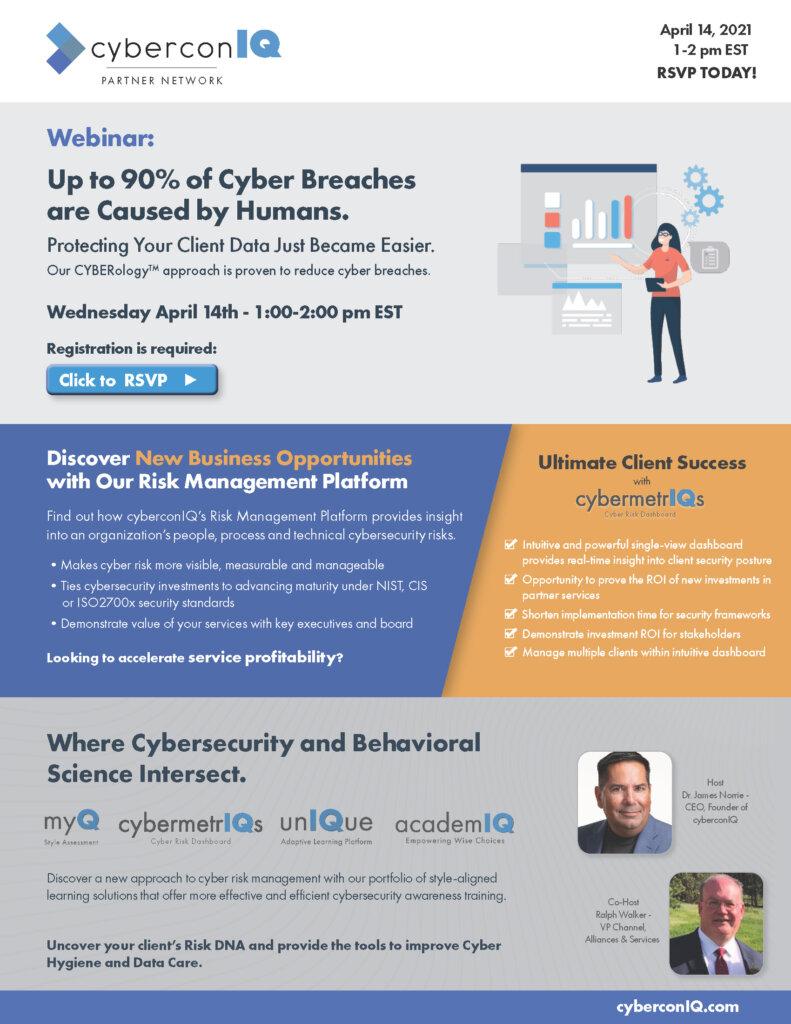 cyberconIQ - Channel Partner Webinar - Discover New Business Opportunities new