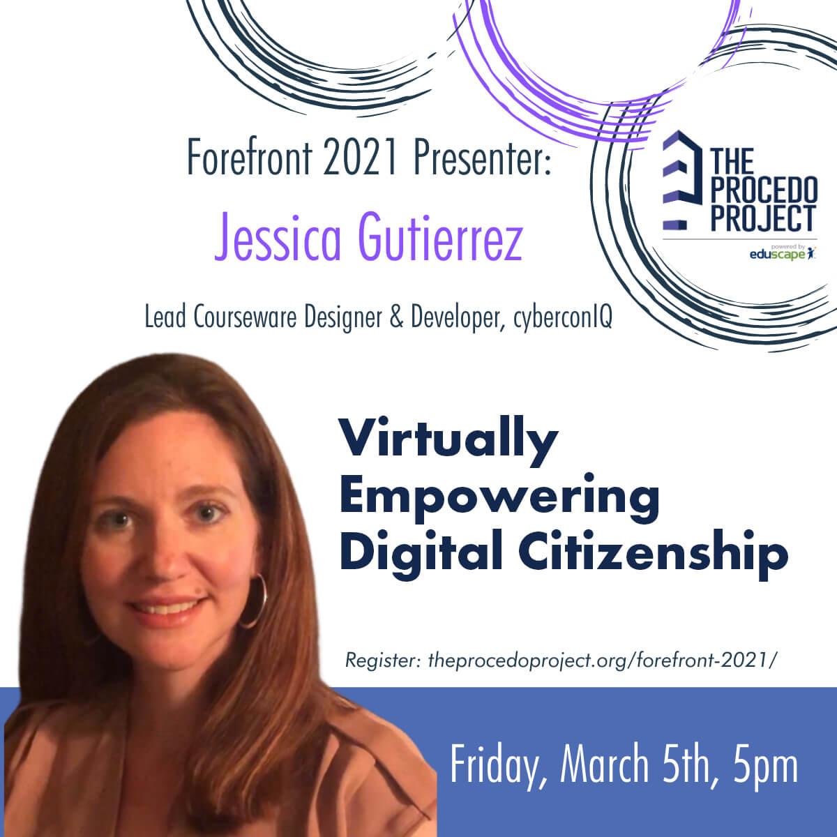 cyberconIQ - Jessica Gutierrez - Forefront 2021 Speaker
