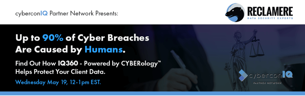 cyberconIQ + Reclamere - Zoom Webinar
